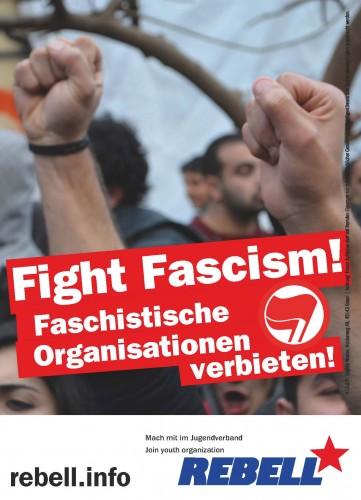 Aufkleber fight fascism