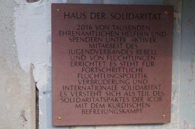 Tafel Haus der Solidarität